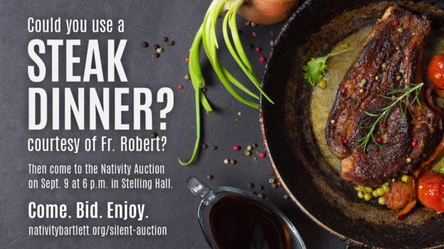 Auction slide 4 Steak Dinner