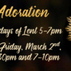 THURSDAY LENT ADORATION